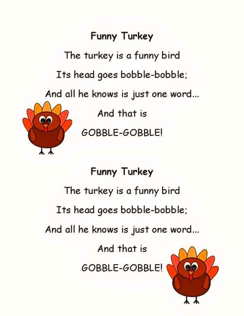 Thanksgiving Poems For Children Funny Thanksgiving Quotes For