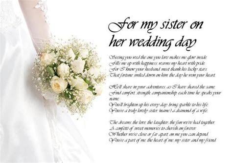 personalised poem poetry   sister bride