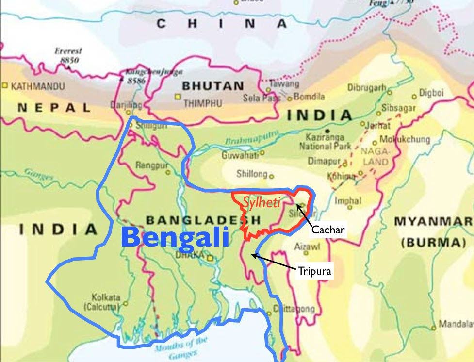 Image result for bengal people map