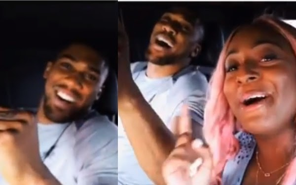 DJ Cuppy and Anthony Joshua spotted singing together in Nigeria (Video)