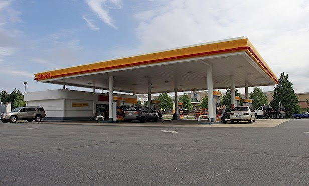 Shell gas station exterior