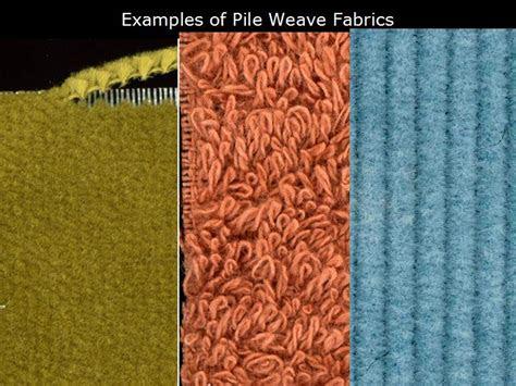 pile weave fabric