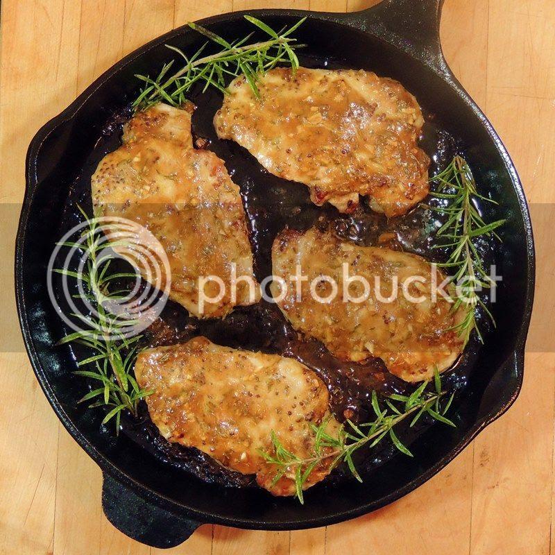 Honey Mustard Pork Chops with Rosemary and Garlic