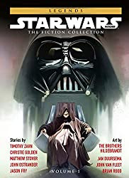 Star Wars book cover showing Emperor Palpatine seated on this thrown, with Darth Vader's mask looming large in the background. Featured authors and illustrators are listed in text on the sides.