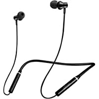 pTron Tangent Beats Magnetic in-Ear Wireless Bluetooth Headphones with Mic - (Black)