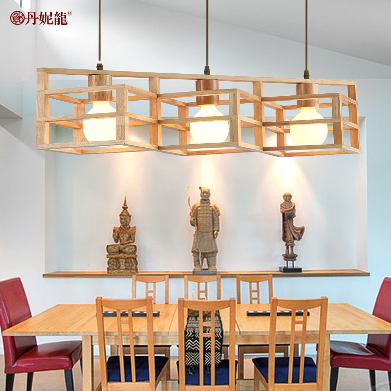 Dani new Chinese dragon square living room chandelier bar ...