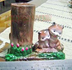 souvenir gypsum tempat pensil kucing