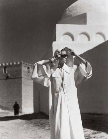 Louise Dahl-Wolfe's Grès coat, Egypt, 1950