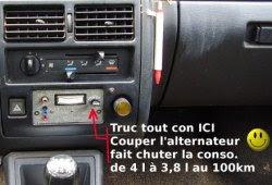 Truc tout con ICI : Couper l'alternateur fait chuter la consommation de 4 l à 3,8 l au 100.