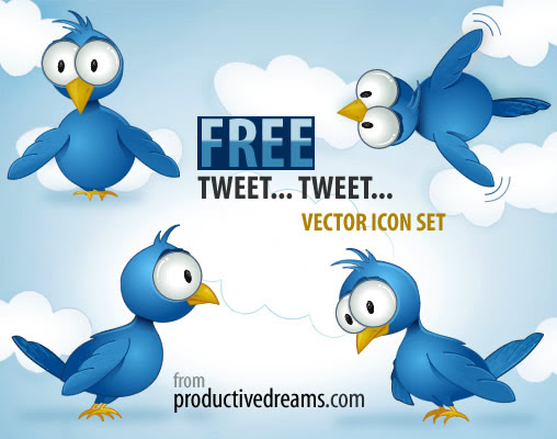 Free Twitter Icon Set by Productivedreams