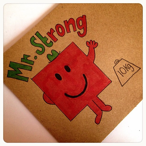 Day 6: Strong My niece and I on school day mornings watch the mr men, mr strong is different in that. I also bought a box set of the books as well as lettersets  so I couldn't pick anything else for this. #mrmen #strong #mrstrong #doodle #doodleaday #dood