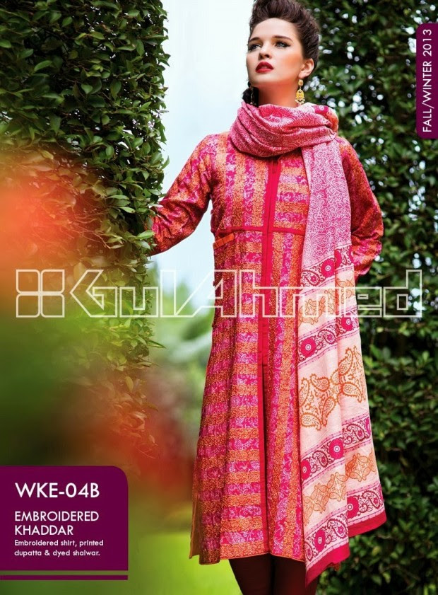 Beautiful-Cute-Girls-New-Fashionable-Dress-Design-by-Gul-Ahmed-Fall-Winter-Collection-2013-14-4