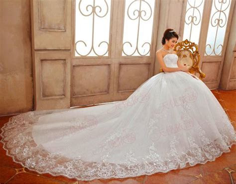 Discount Good Quality Luxury Princess Lace Embroidery Long