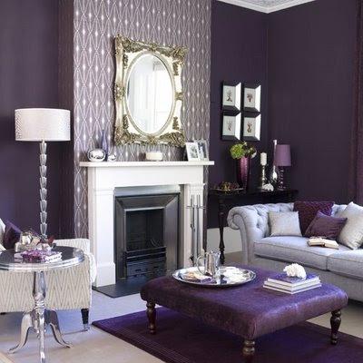 Bedroom Interior Design Ideas on Purple Living Room Design