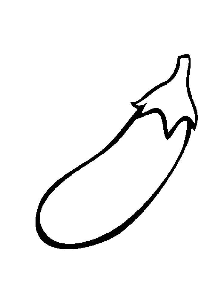 Vegetables Eggplant coloring page 14