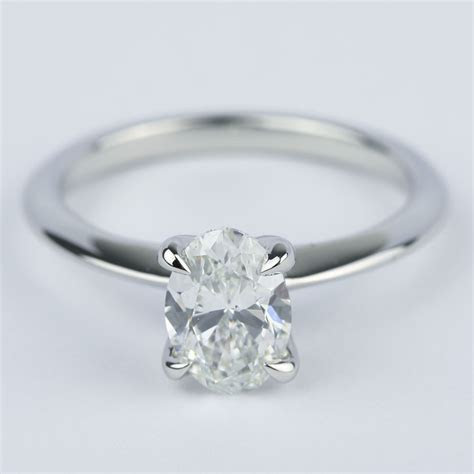 knife edge oval diamond engagement ring  ct