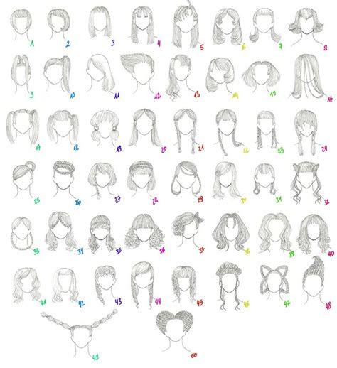draw female anime hair  female anime hairstyles