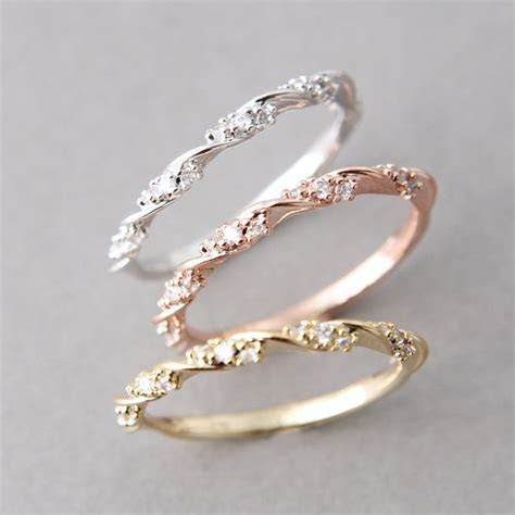 17 Best ideas about Rose Gold Stackable Rings on Pinterest