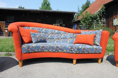 Garibaldi Designsofa und 2 Sessel aufgearbeitet und neu ...