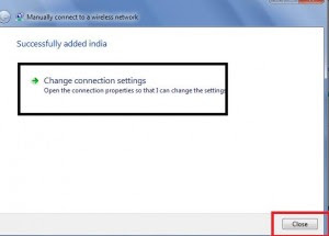 Change Connection Setting