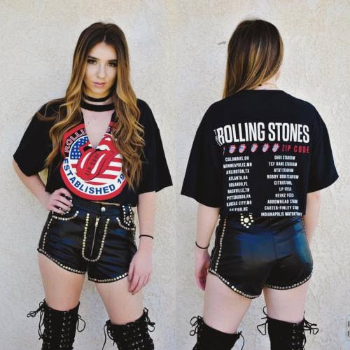 Rolling Stones cut out crop tee is available on our site now for just 26$ plus 20% off because of Cinco De Mayo! Just use code Drinkup20 at check out! We ship world wide! http://sameoldchic.bigcartel.com