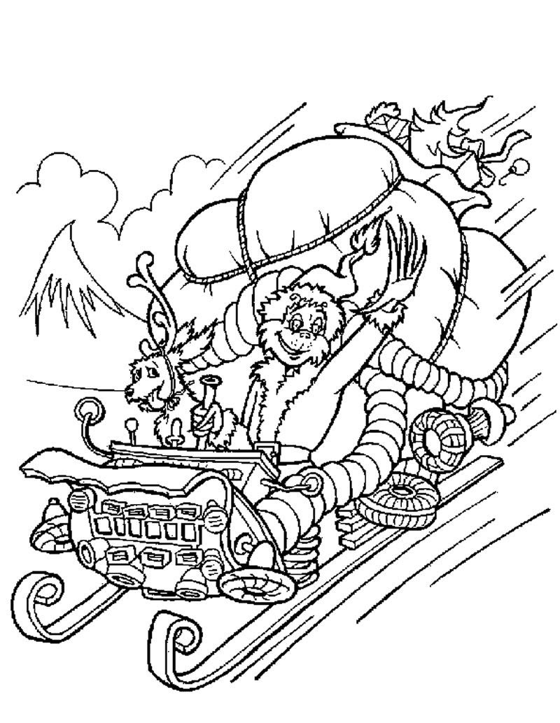 The Grinch Coloring Page  Coloring Home