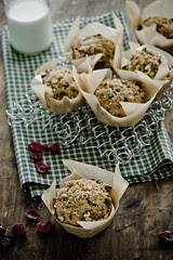Spiced Cranberry and Pistachio Muffins by Meeta K. Wolff