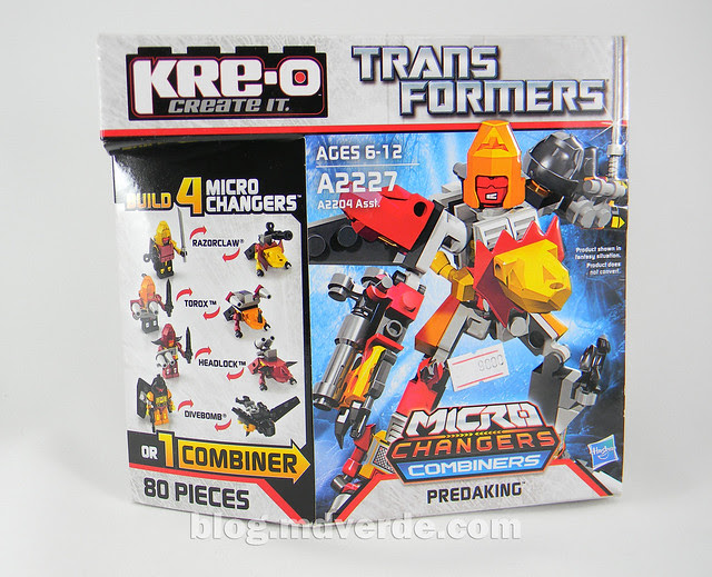 Transformers Predaking Kre-O - empaque