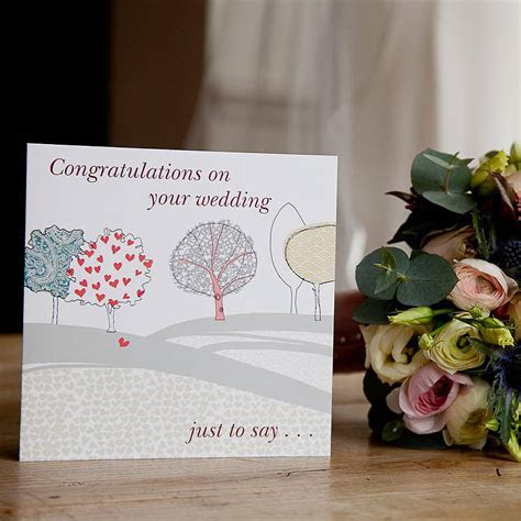 'congratulations on your wedding' card by from you to me