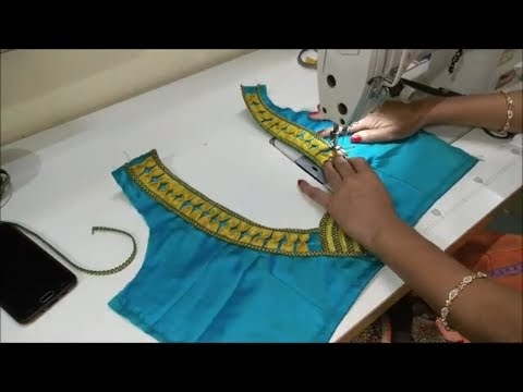 blouse back neck design cutting and stitching 2020