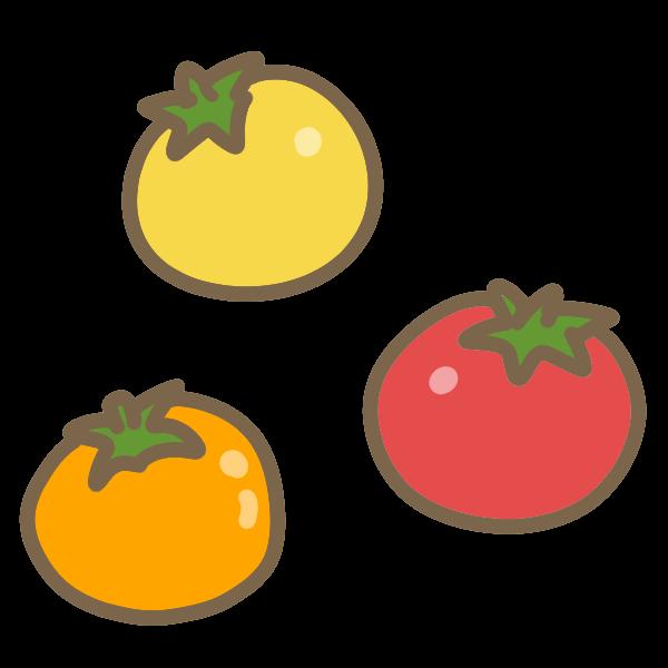 ミニトマトのイラスト かわいいフリー素材が無料のイラストレイン