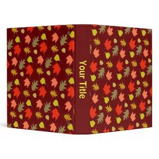 Fall Leaves binder