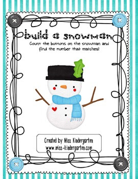 Build a Snowman- Number Recognition Practice