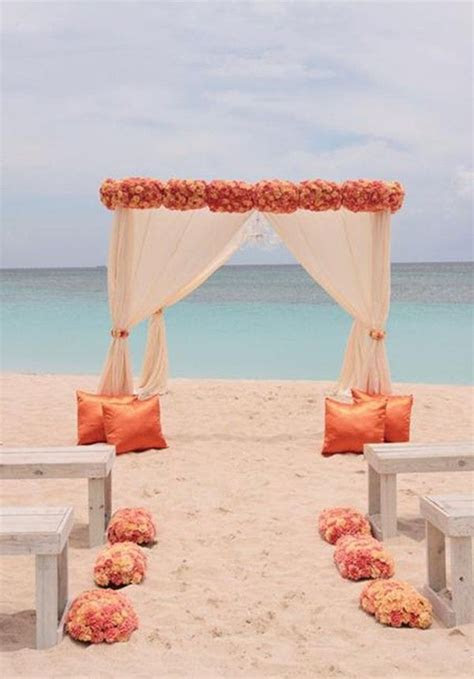 Flowers Sunset beach wedding decoration photos shoot