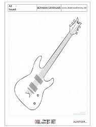 Gitar Boyama Sayfaları