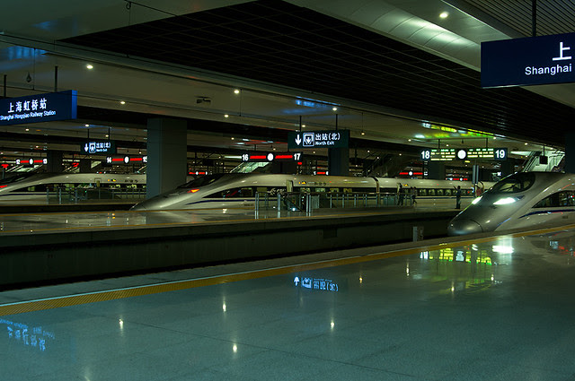 high-speed railway,Shanghai,China