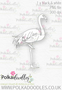 Winnie Wonderland Flamingo - Printable Digital stamp download