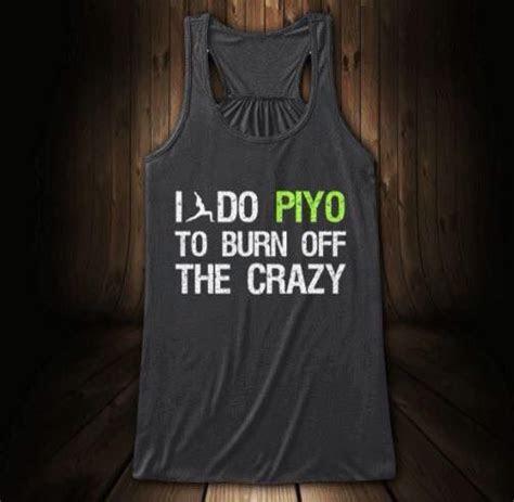 piyo crazy fitness girl workout gear tank top beach
