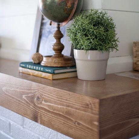 updated wood mantle update diy