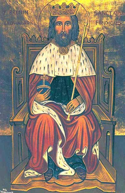 ST. CADWALLADR, .Cadwallon, Cadwallader, King of Wales