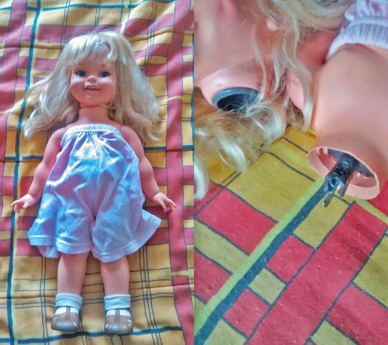 Boneca Gui-gui quebrada
