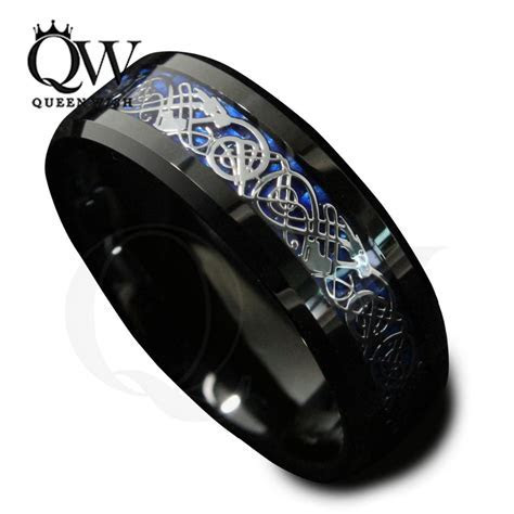 Black Celtic Dragon Ring   jagfox.com
