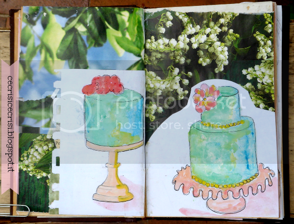 torte art journal nuove pagine torte