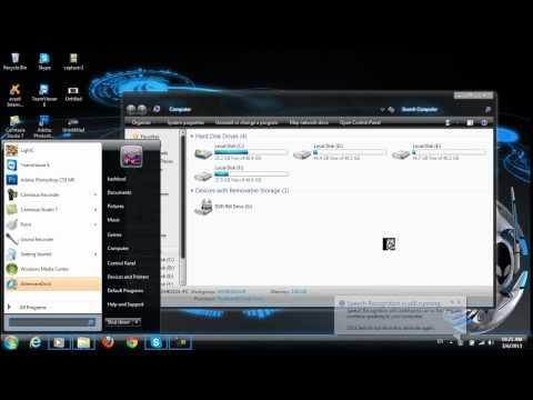 برنامج Alienware لتغير شكل ويندوز 7 Alienware Blue Theme download for Windows