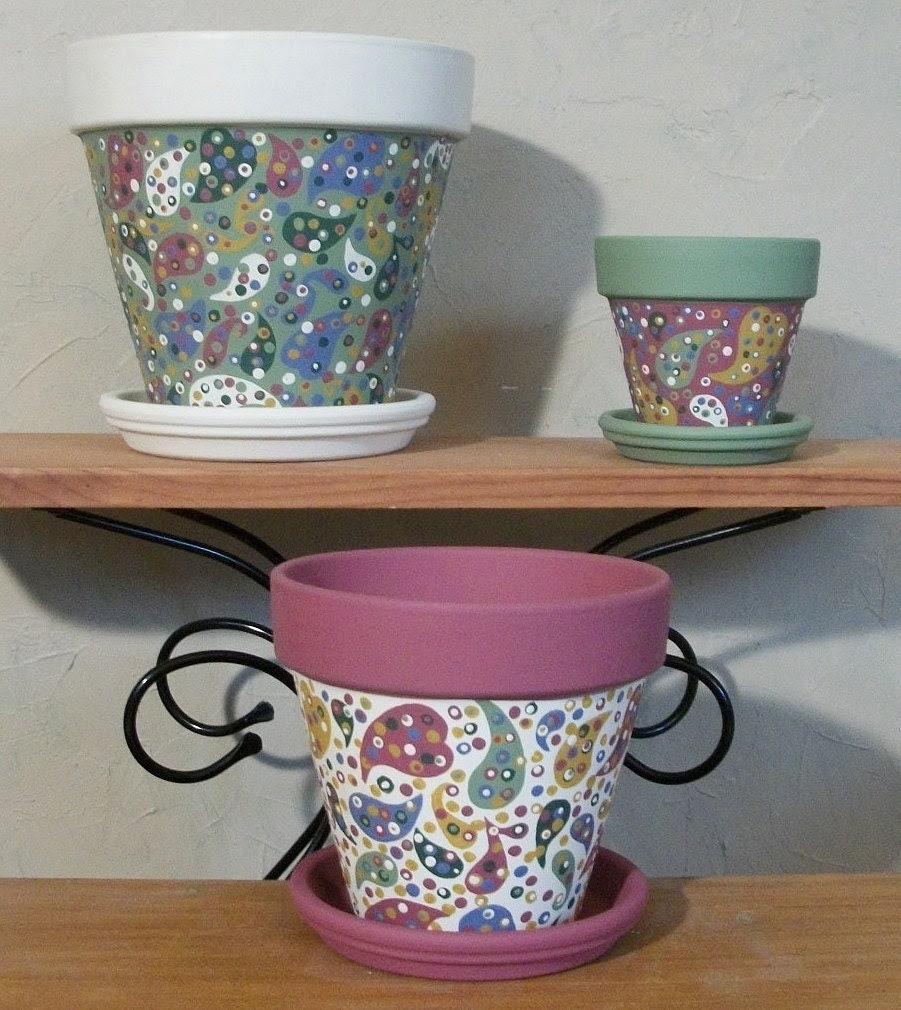 dekoratif saksı boyama