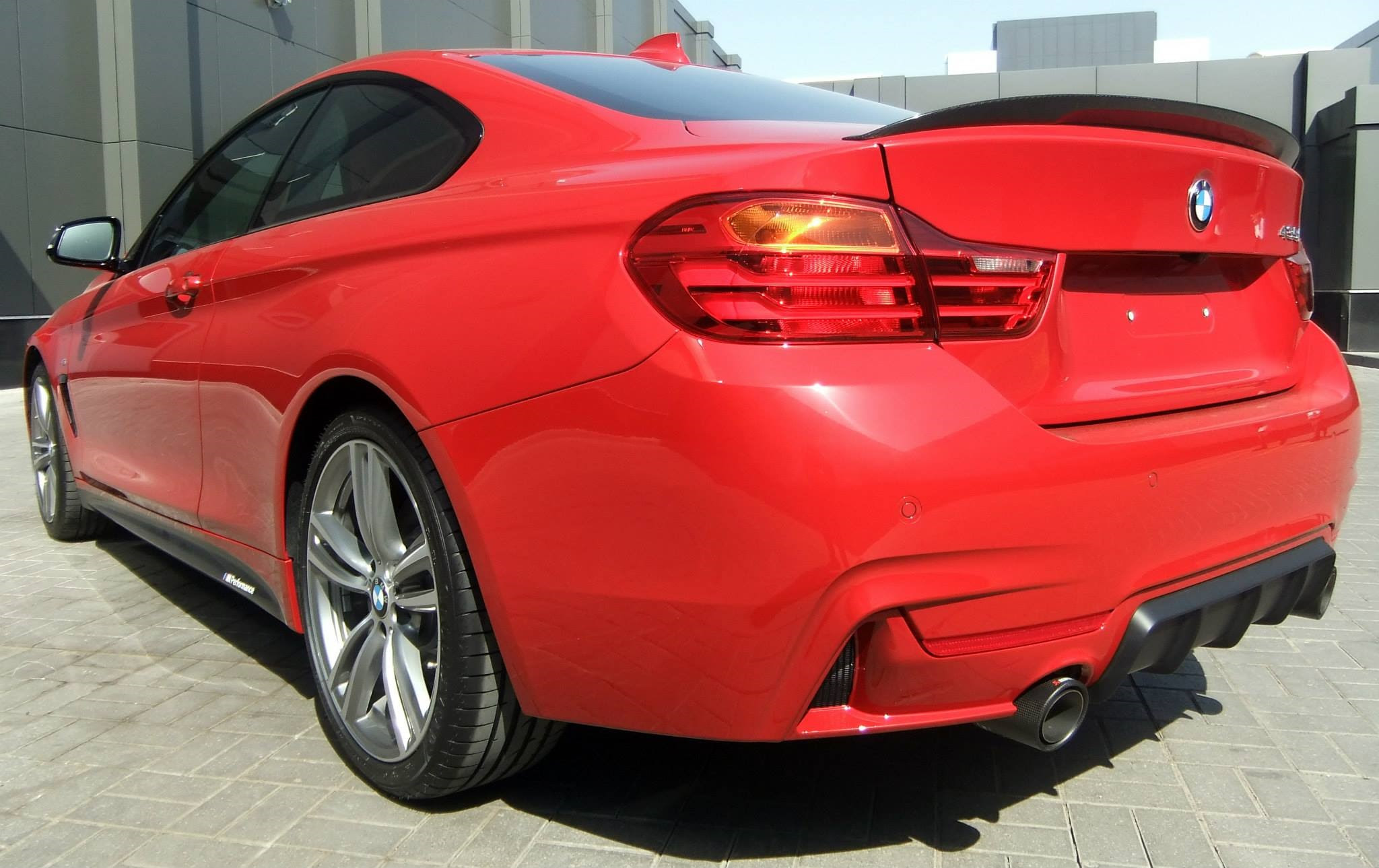 BMW 435i M Performance Parts in Melbourne Red