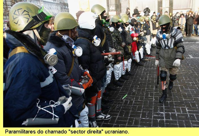 Paramilitares do 'Sector Direita'
