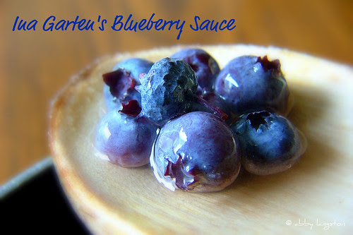 Ina Garten's Blueberry Sauce