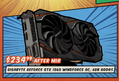 GIGABYTE GeForce GTX 1060 Windforce OC, 6GB GDDR5