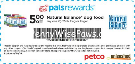 natural balance dog food  printable manufacturer